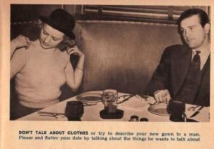1938 Dating Etiquette Tip for Women