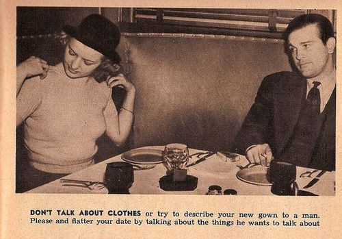 1938 Dating Etiquette Tip for Women