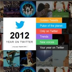 2012 YEAR ON TWITTER HISTORY