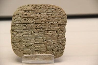 Mesopotamian cuneiform script