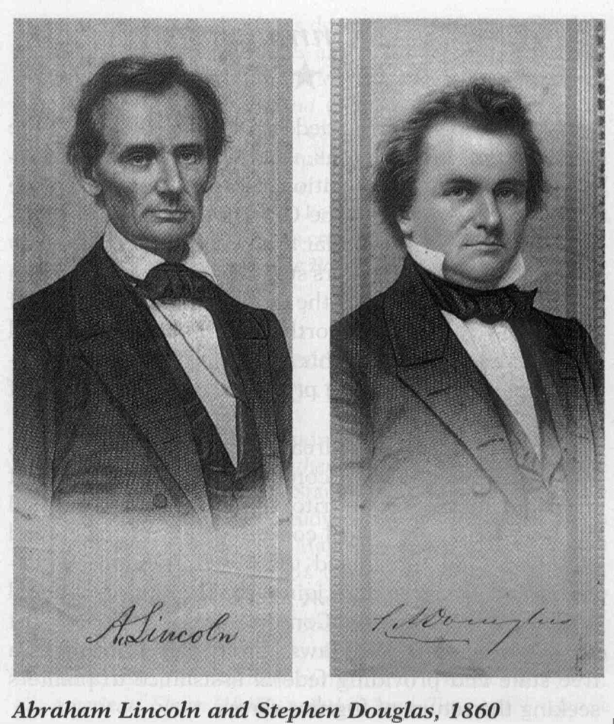 an analysis of the debates with senator stephen a douglas and lincoln Lincoln loses first of the lincoln-douglas debates on slavery august 21, 1858, was the day that abraham lincoln and stephen a douglas met in ottawa, illinois, in the first of the famous lincoln-douglas.