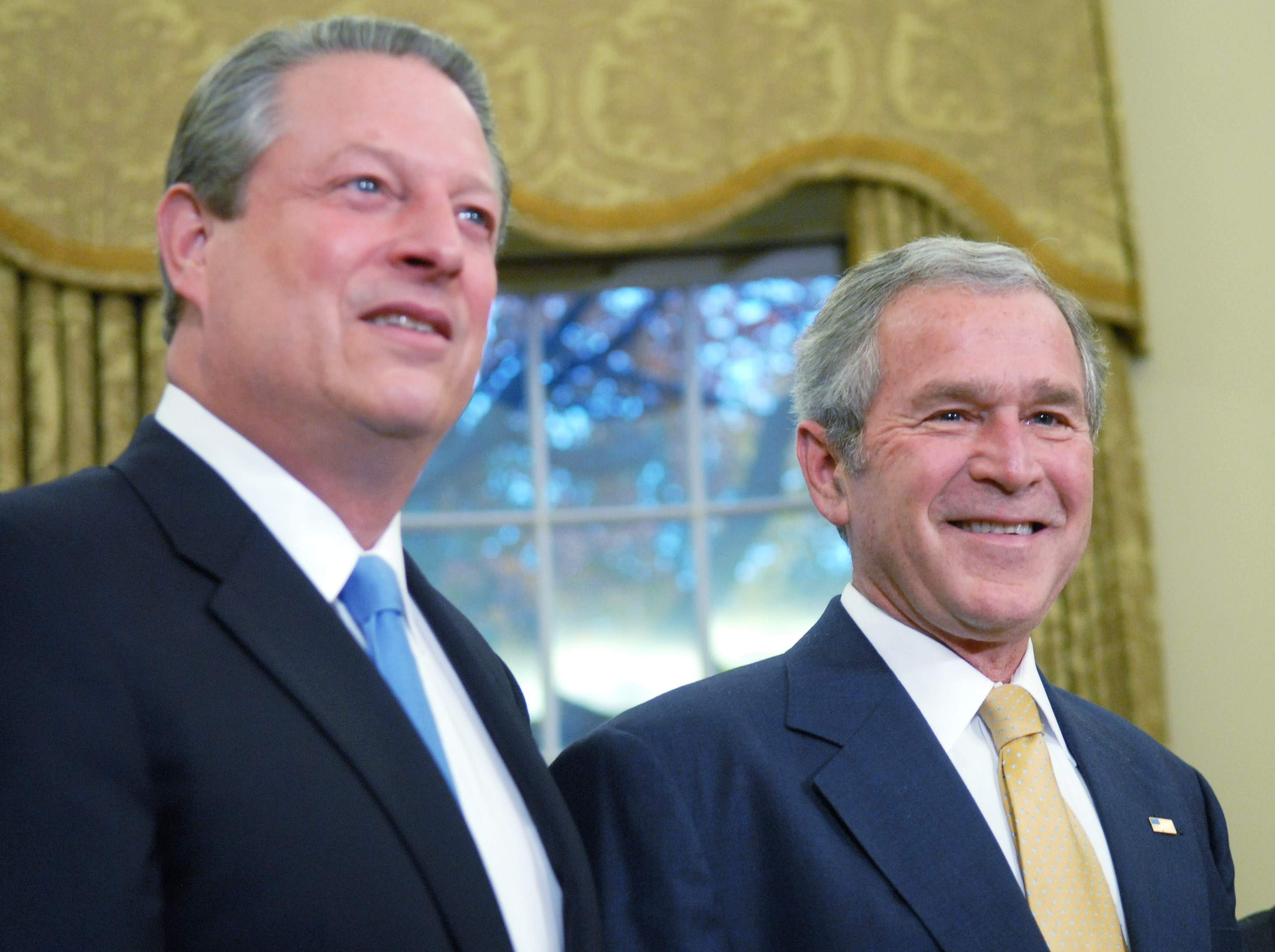 a comparison of presidental candidates al gore and george w bush From al gore in the 2000 and virtually secured the election in favor of george w bush, third-party candidates have  debates to third party candidates.