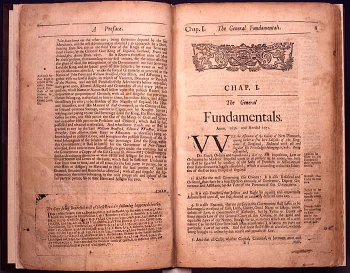 The Book of the General Laws of the Inhabitants of the Jurisdiction of New-Plimouth, 1685.