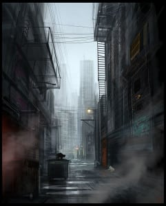 Scary Alley (Click on picture if interested in purchasing a print.) Art by: Hideyoshi