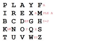 Example of Playfair cipher
