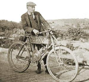 Wyman and his 1902 California machine