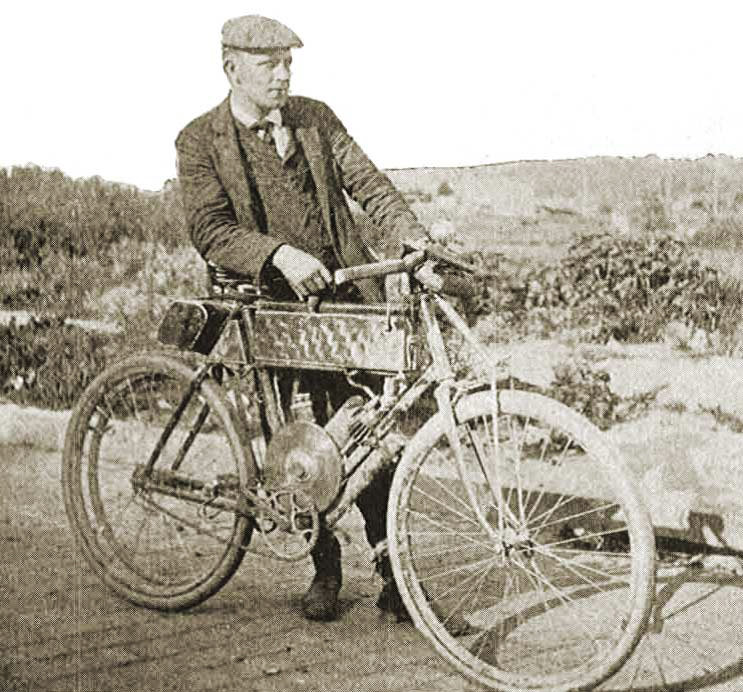 Wyman and his 1902 California machine