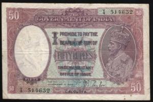INDIA 50 RUPEES 1930