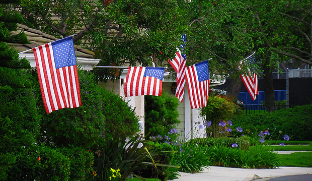 Independence Day Flags -- Americas Independence Day
