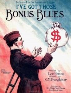 I've Got Those Bonus Blues Bonus Army