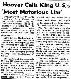 J. Edgar Hoover and Martin Luther King