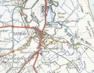 Map of Sandwich, England