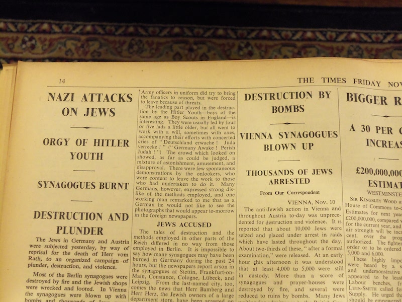 Nazi Attack On Jews Headline