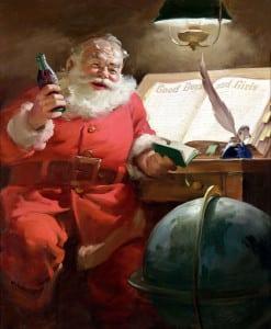 Santa with a Coke