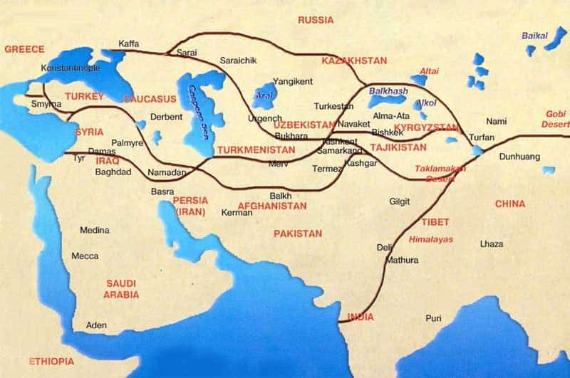 Map-Silk-Road