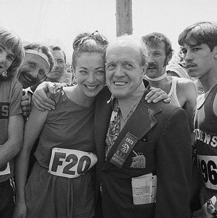 Jock Semple and Katherine Switzer