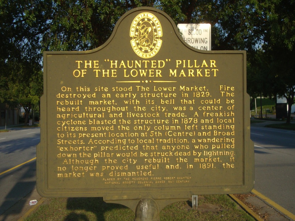 The Haunted Pillar Sign