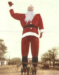 Santa, before he was Big Tex