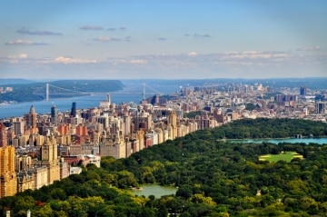 View of Central Park overlooking the bay.